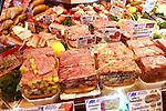 Country sausages on display at Holsteiner Raeucherkate in Spandau, Berlin, Germany