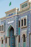 Iranian mosque near Old Souq, Dubai, United Arab Emirates.