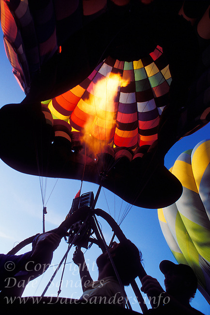 Hot Air Ballooning in the Fraser Valley, British Columbia, Canada.