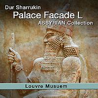 Assyrian Korsabad Palace Facade L Dur Sharrukin Relief Sculptures - Louvre - White