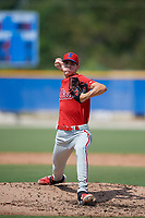 Philadelphia Phillies pitcher Gunner Mayer (24) during an Instructional League game against the Toronto Blue Jays on September 27, 2019 at Englebert Complex in Dunedin, Florida.  (Mike Janes/Four Seam Images)