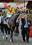 5 September 2009: Rachel Alexandra and jockey Calvin Borel come onto thetrack for the Woodward Stakes at Saratoga Race Track in Saratoga Springs, New York