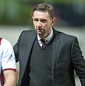 Motherwell manger Ian Baraclough at the end of the game.