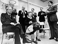 Diefenbaker; John; Mr and Mrs <br /> <br /> Bezant, Graham<br /> <br /> 1976<br /> <br /> PHOTO : Graham Bezant - Toronto Star Archives - AQP