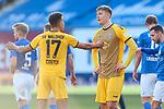 20.02.2021, xtgx, Fussball 3. Liga, FC Hansa Rostock - SV Waldhof Mannheim, v.l. Marcel Costly (Mannheim, 17) und Anthony Roczen (Mannheim) diskutieren, enttaeuscht, schaut enttaeuscht, niedergeschlagen, disappointed <br /> <br /> (DFL/DFB REGULATIONS PROHIBIT ANY USE OF PHOTOGRAPHS as IMAGE SEQUENCES and/or QUASI-VIDEO)<br /> <br /> Foto © PIX-Sportfotos *** Foto ist honorarpflichtig! *** Auf Anfrage in hoeherer Qualitaet/Aufloesung. Belegexemplar erbeten. Veroeffentlichung ausschliesslich fuer journalistisch-publizistische Zwecke. For editorial use only.