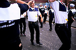 'GAYFEST MANCHESTER, UK', 'THE PRAIRIE DOGS' A GAY LINE DANCE TEAM, DANCING IN THE STREETS 'THEY DO IT WITH A SMILE', 1999