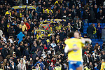 UD Las Palmas' supporters celebrate after La Liga match. March 1,2017. (ALTERPHOTOS/Acero)