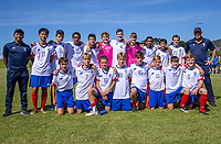 Auckland boys under-14 team photo during the 2019 National Age Group Tournament at Memorial Park in Petone, Wellington, New Zealand on Thursday, 11 December 2019. Photo: Dave Lintott / lintottphoto.co.nz