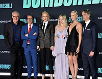 """LOS ANGELES, USA. December 11, 2019: John Lithgow, Charles Randolph, Nicole Kidman, Margot Robbie, Charlize Theron & Jay Roach at the premiere of """"Bombshell"""" at the Regency Village Theatre.<br /> Picture: Paul Smith/Featureflash"""