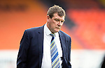 Dundee United v St Johnstone...27.09.14  SPFL<br /> An unhappy Tommy Wright<br /> Picture by Graeme Hart.<br /> Copyright Perthshire Picture Agency<br /> Tel: 01738 623350  Mobile: 07990 594431