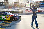 Monster Energy NASCAR Cup Series<br /> Apache Warrior 400<br /> Dover International Speedway, Dover, DE USA<br /> Sunday 1 October 2017<br /> Kyle Busch, Joe Gibbs Racing, M&M's Caramel Toyota Camry, celebrates after winning at Dover.<br /> World Copyright: John K Harrelson<br /> LAT Images