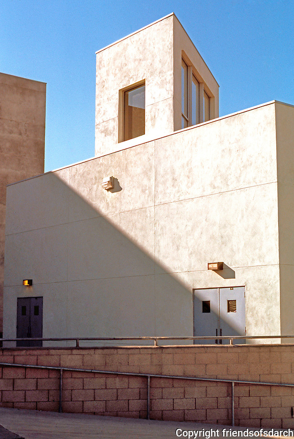 Frank Gehry: ICS/ERF Complex, Irvine. Classroom building with clerestory box.  Photo '86.