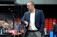 03-04-2021: Basketbal: Donar Groningen v Heroes Den Bosch: Groningen Den Bosch coach Jean-Marc Jaumin