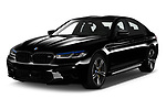 2021 BMW M5 Competition 4 Door Sedan Angular Front automotive stock photos of front three quarter view