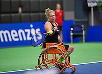 Rotterdam,Netherlands, December 15, 2015,  Topsport Centrum, Lotto NK Tennis,  Michaela Spaanstra (NED)<br />