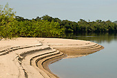 Pará State, Brazil. Xingu River; island beach.