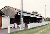 General view of Stratford Town FC, Masons Road off Alcester Road, Stratford-upon-Avon, Warwickshire, pictured on 28th July 1992