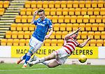 St Johnstone v Hamilton Accies...12.09.15  SPFL McDiarmid Park, Perth<br /> Steven MacLean scores hgsi second goal<br /> Picture by Graeme Hart.<br /> Copyright Perthshire Picture Agency<br /> Tel: 01738 623350  Mobile: 07990 594431