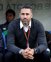 BOGOTA -COLOMBIA, 16-07-2016. Mario Yepes drector técnico del Deportivo  Cali  durante partido contra Fortaleza  encuentro  por la fecha 3 de la Liga Aguila II 2016 disputado en el estadio Metropolitano de Techo./ Mario Yepes coach  of Cali  against  of Fortaleza during match for the date 3 of the Aguila League II 2016 played at Nemesio Camacho El Campin stadium . Photo:VizzorImage / Felipe Caicedo  / Staff