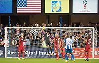 San Jose, Ca - Friday March 24, 2017: Tim Howard during the USA Men's National Team defeat of Honduras 6-0 during their 2018 FIFA World Cup Qualifying Hexagonal match at Avaya Stadium.
