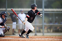 Edgewood College Eagles Danny Appino (13) at bat during the first game of a doubleheader against Western Connecticut Colonials on March 13, 2017 at the Lee County Player Development Complex in Fort Myers, Florida.  Edgewood defeated Western Connecticut 3-0.  (Mike Janes/Four Seam Images)