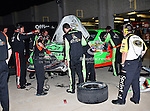 Mark Martin's, driver of the (5) GoDaddy.com Chevrolet, pit crew works on his car during the Samsung Mobile 500 Sprint Cup race at Texas Motor Speedway in Fort Worth,Texas.