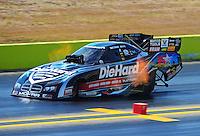 Sept. 25, 2011; Ennis, TX, USA: NHRA funny car driver Matt Hagan during the Fall Nationals at the Texas Motorplex. Mandatory Credit: Mark J. Rebilas-