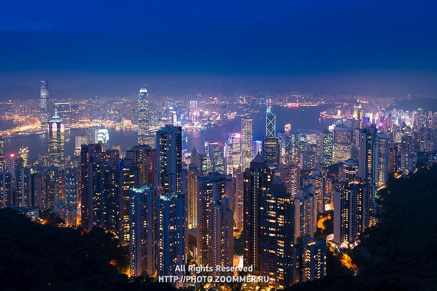 Panorama skyline of Hong Kong