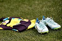 The shirt and the shoes of Samir Handanovic of FC Internazionale are seen on the pitch during the Uefa Champions League group D football match between FC Internazionale and Real Madrid at San Siro stadium in Milano (Italy), September 15th, 2021. Photo Andrea Staccioli / Insidefoto