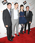 Screenwriters Scott Neustadter & Michael H. Weber with Joseph Gordon-Levitt & Zooey Deschanel at The Movieline.com Presentation of The 4th Annual Hamilton Behind the Camera Awards held at The Highlands in Hollywood, California on November 08,2009                                                                   Copyright 2009 DVS / RockinExposures