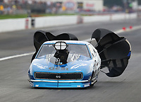 Aug 31, 2019; Clermont, IN, USA; NHRA pro mod driver Eric Latino during qualifying for the US Nationals at Lucas Oil Raceway. Mandatory Credit: Mark J. Rebilas-USA TODAY Sports