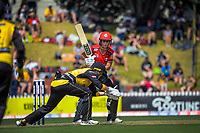 Canterbury's Kate Ebrahim leaves the ball for keeper Jess McFadyen during the Dream11 Super Smash T20 women's cricket final between Wellington Blaze and Canterbury Magicians at the Basin Reserve in Wellington, New Zealand on Saturday, 13 February 2021. Photo: Dave Lintott / lintottphoto.co.nz