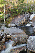 Cascade and pool on Harvard Brook in Lincoln, New Hampshire during the spring months. The Georgiana Falls Path passes by this small pool.