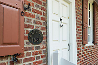The historic one-room Revell House, the oldest building in Burlington County,, Burlington, New Jersey, USA. 1865