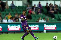 24th March 2021; HBF Park, Perth, Western Australia, Australia; A League Football, Perth Glory versus Sydney FC; Perth Glory player Darryl Lachman passes the ball forward