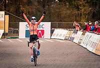 Puck Pieterse (NED) wins the U23 Women's Race and becomes the new U23 European Champion<br /> <br /> UEC Cyclocross European Championships 2020 - 's-Hertogenbosch (NED)<br /> <br /> ©kramon
