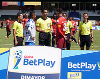 COTA-COLOMBIA, 08-02-2020: Fortaleza CEIF y Orsomarzo S.C., durante partido de vuelta de la 1ra ronda de clasificacion de la Copa BetPlay DIMAYOR 2020 en el estadio Municipal de Cota de la ciudad de Cota. / Fortaleza CEIF and Orsomarso S.C., during a match of the second leg for the 1st date of the BetPlay DIMAYOR Cup 2020 at the Municipal de Cota stadium in Cota city. / Photos: VizzorImage / Daniel Garzon / Cont.