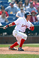 OF Ryan Kalish of the Portland Sea Dogs in action vs. the New Britain Rock Cats at Hadlock Field in Portland, Maine on May 31, 2010 (Photo by Ken Babbitt/Four Seam Images)