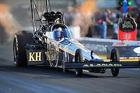 Jul. 23, 2011; Morrison, CO, USA: NHRA top fuel dragster driver Del Worsham during qualifying for the Mile High Nationals at Bandimere Speedway. Mandatory Credit: Mark J. Rebilas-