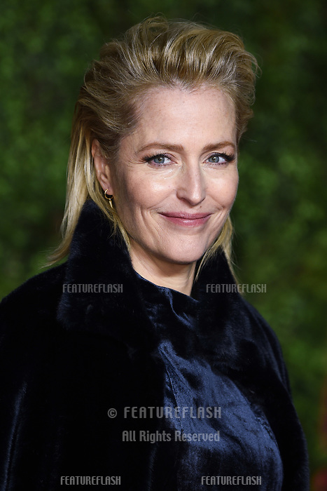 "LONDON, UK. November 13, 2019: Gillian Anderson arriving for ""The Crown"" series 3 premiere at the Curzon Mayfair, London.<br /> Picture: Steve Vas/Featureflash"