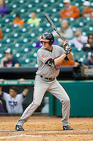 Dirk Masters #29 of the Sam Houston State Bearkats pinch hits during the game against the Texas Christian Horned Frogs at Minute Maid Park on February 28, 2014 in Houston, Texas.  The Bearkats defeated the Horned Frogs 9-4.  (Brian Westerholt/Four Seam Images)