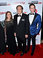 LOS ANGELES, USA. November 09, 2019: Abbe Aron, Adam Aron & David Aron at the American Cinematheque Award Gala honoring Charlize Theron at the Beverly Hilton.<br /> Picture: Paul Smith/Featureflash