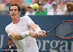 Andy Murray (GBR) struggles but takes the first set from Adrian Mannarino (FRA) 7-5 at the US Open in Flushing, NY on September 3, 2015.