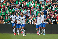 Mexico City, Mexico - Sunday June 11, 2017: USMNT Celebration during a 2018 FIFA World Cup Qualifying Final Round match between the men's national teams of the United States (USA) and Mexico (MEX) at Azteca Stadium.