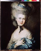 A Lady in Blue (Duchess of Beaufort)<br /> Artist:Gainsborough, Thomas(1727-1788)<br /> Museum:State Hermitage, St. Petersburg<br /> Method:Oil on canvas<br /> Created:c. 1780<br /> School:Great Britain<br /> Category:Portrait<br /> Trend in art:Classicism