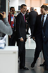 King Felipe VI of Spain during the visit to the Grupo Zeta for his 40º anniversary in Madrid, Spain. December 12, 2016. (ALTERPHOTOS/BorjaB.Hojas)