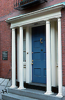 "Boston:  No. 15 Chestnut. Architect Charles Bullfinch, 1807.  These slender, non-functional columns are called ""colonettes"".  Photo '88."