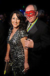 """Priscilla Devido and Justin Hawes at the San Luis Salute """"Space Pirates"""" at the Galveston Island Convention Center Friday February 24,2017. (Dave Rossman Photo)"""