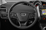 Car pictures of steering wheel view of a 2017 Toyota Verso 50th-Anniversary+-PACK 5 Door Mini MPV Steering Wheel