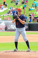 Bowling Green Hot Rods pitcher Paul Campbell (11) on the mound during a Midwest League game against the Wisconsin Timber Rattlers on July 23, 2018 at Fox Cities Stadium in Appleton, Wisconsin. Wisconsin defeated Bowling Green 5-3. (Brad Krause/Four Seam Images)